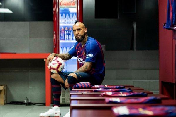 Vidal espera ansioso su debut / imagen: FC Barcelona