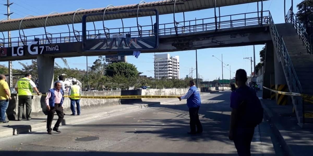 ATM: Conductor que impactó contra paso peatonal de avenida del Bombero está detenido