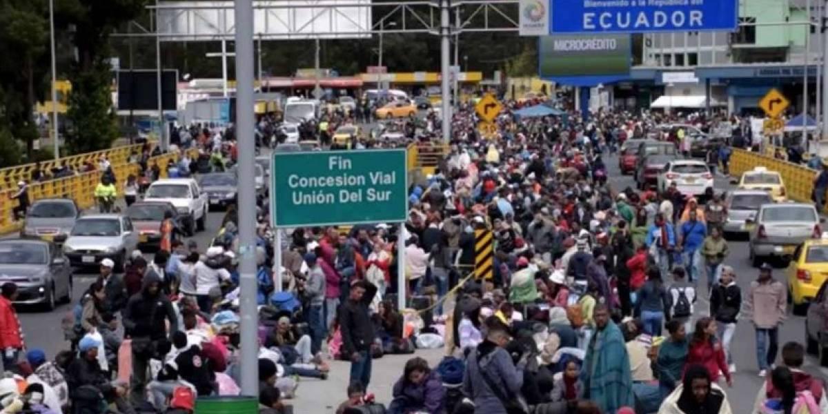 Puente de Rumichaca fue declarado en Estado de Emergencia por situación humanitaria de venezolanos