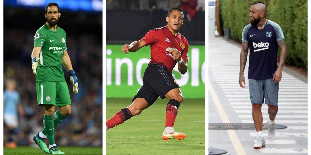 """Vidal, Alexis y Bravo comienzan a vivir el sueño imposible del """"triplete"""" en Europa"""