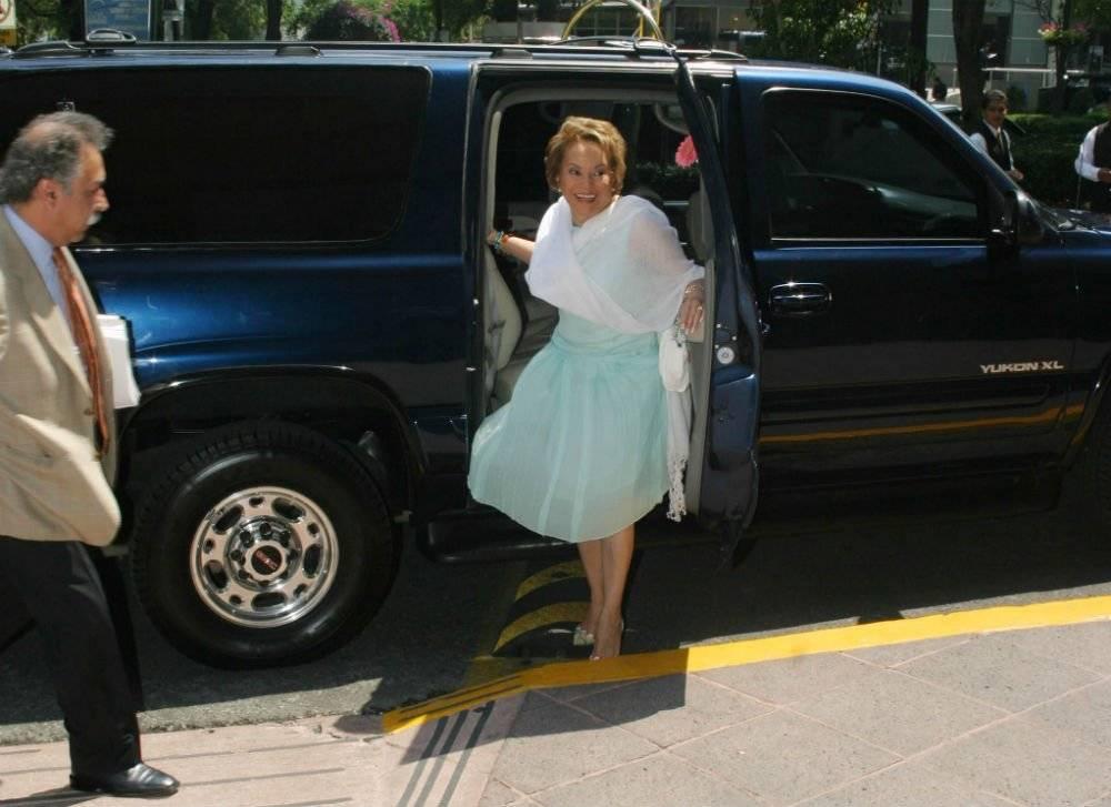 Elba Esther Gordillo llega a un evento Foto: Cuartoscuro