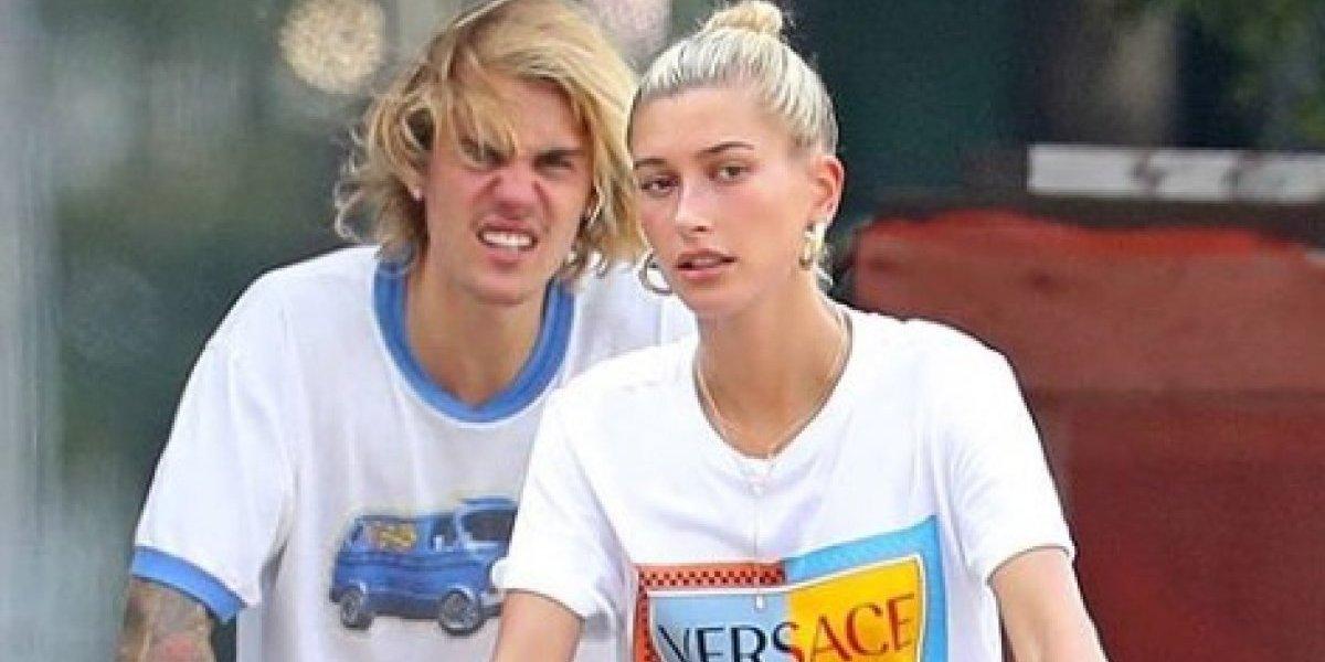 Justin Bieber e Hailey Baldwin são flagrados em momento dramático durante passeio de bicicleta