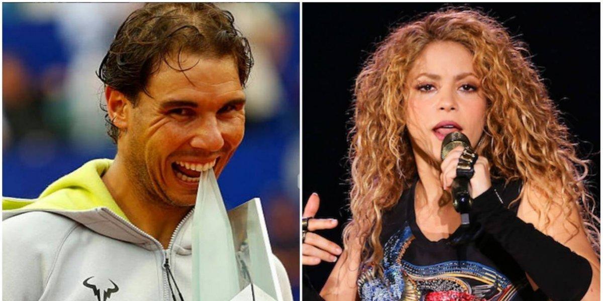 """VIDEO. Captan a Rafael Nadal """"soltando la cadera"""" en concierto de Shakira"""