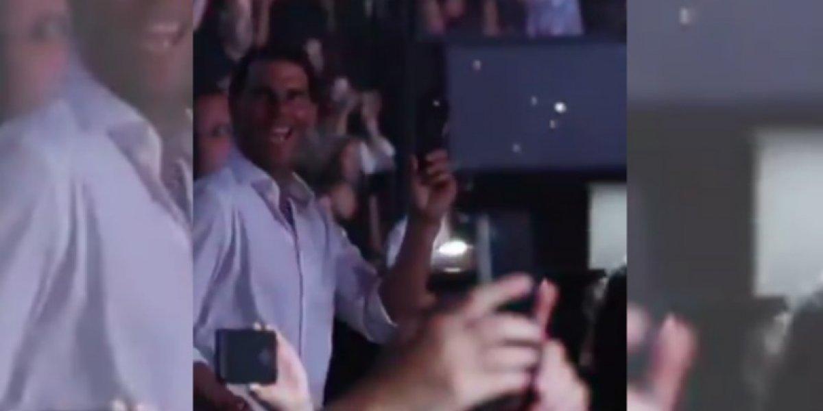Rafael Nadal es seducido por el ritmo de Shakira
