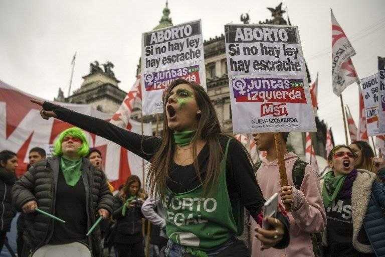 Protestas por la legalización del aborto en Argentina