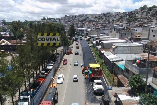 trabajos de recapeo en ruta Ciudad Real hacia Villa Hermosa