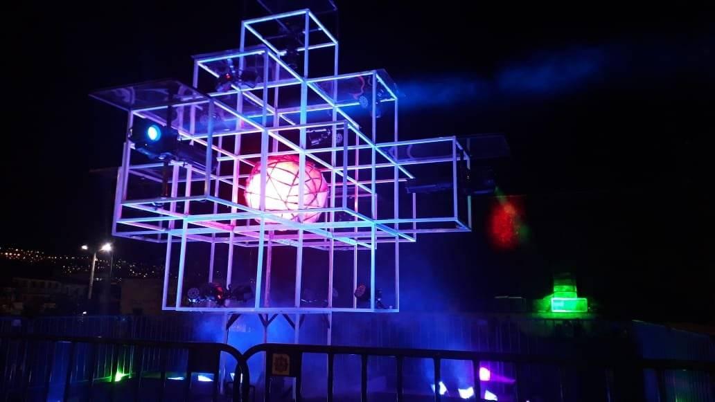 Fiesta de la Luz 2018. Proyección Plaza Hermano Miguel: Ayni de luz, Felipe Jácome & Daniel Espinosa.