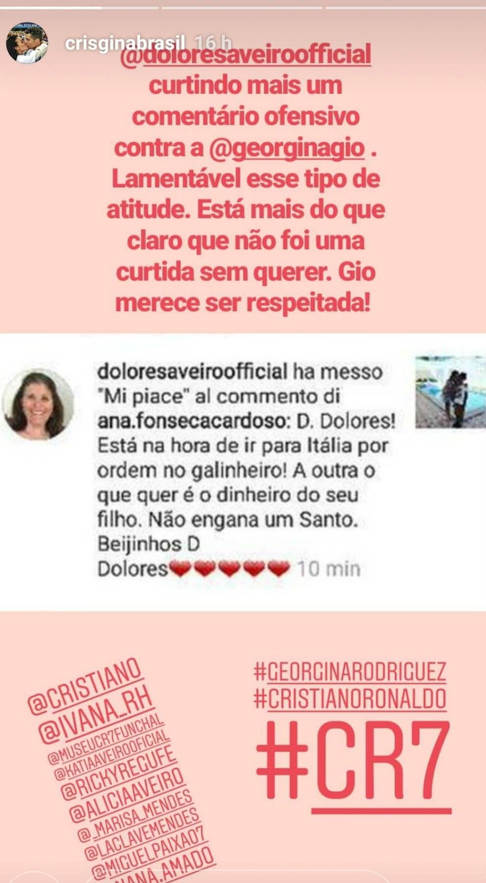 Madre de Cristiano Ronaldo desprecia a Georgina Roríguez