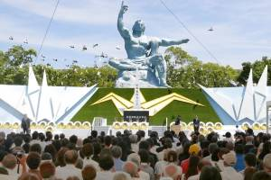 73 aniversario de la bomba atómica en Nagasaki