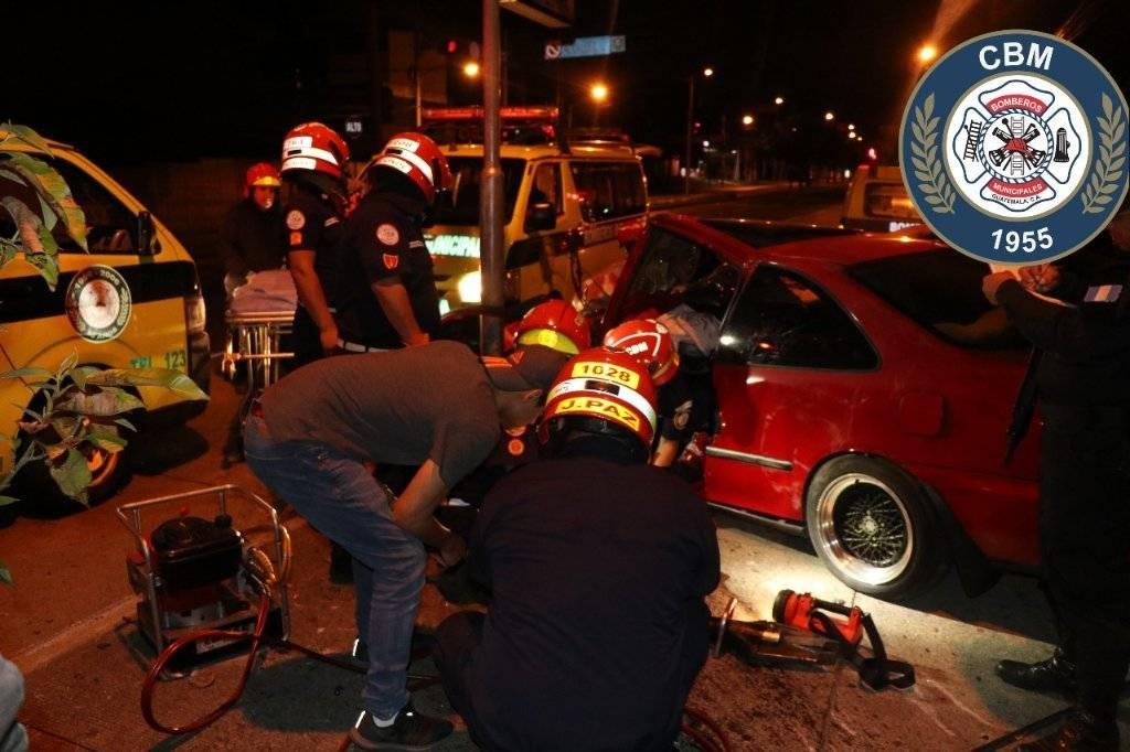 accidente de tránsito en avenida Petapa, zona 12