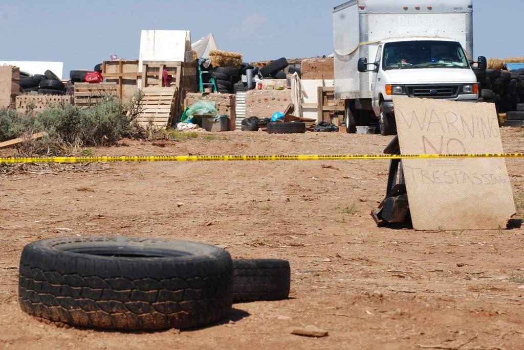 Campamento clandestino en Nuevo México