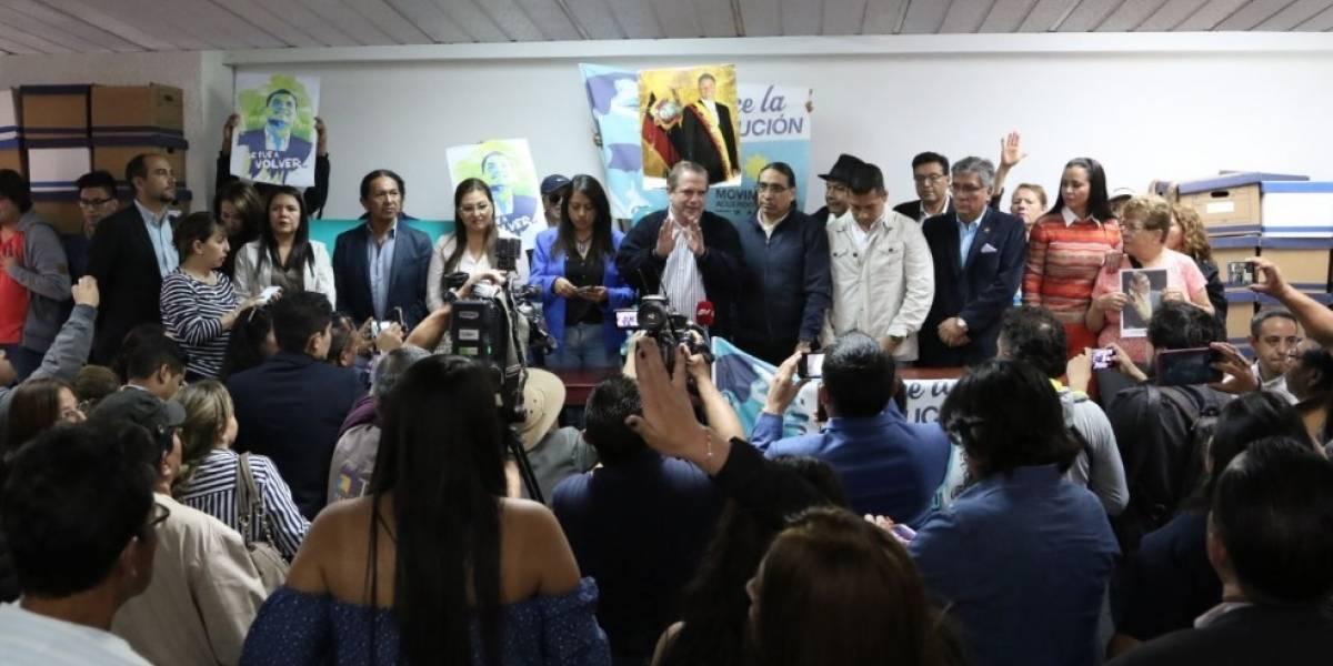 """Simpatizantes de Rafael Correa llaman """"hipócrita y traidor"""" a Lenín Moreno"""