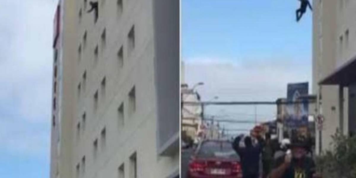 Ecuatoriano murió tras saltar de la ventana de un hotel en Chile