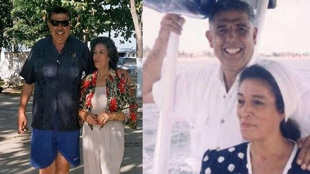 Consuelo de los Reyes Medellín y Rubén Aguirre