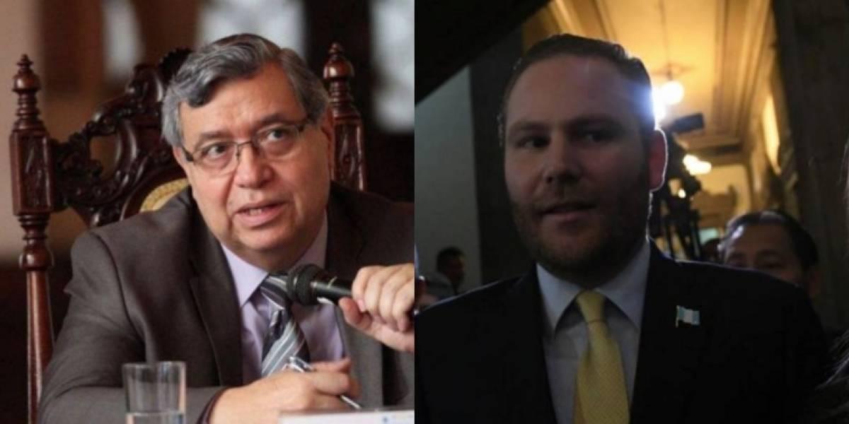 Vicepresidente Cabrera y Arzú Escobar señalan fallas en el sistema judicial y negocio de los DD. HH.