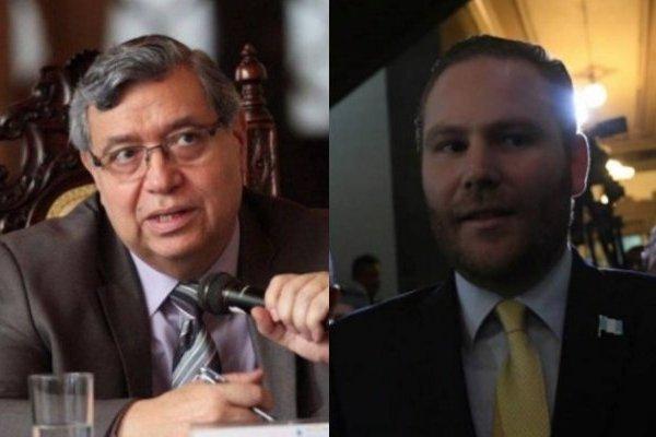 Vicepresidente Jafeth Cabrera y Álvaro Arzú