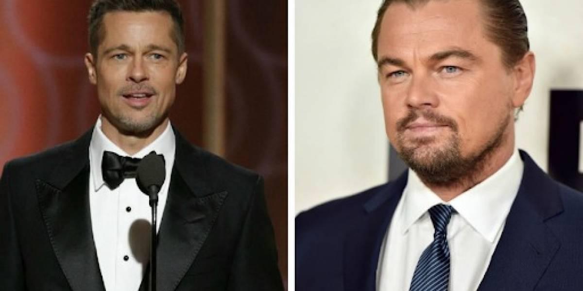 Excesivo photoshop: Brad Pitt y Leonardo DiCaprio retocados en promoción de su nueva cinta