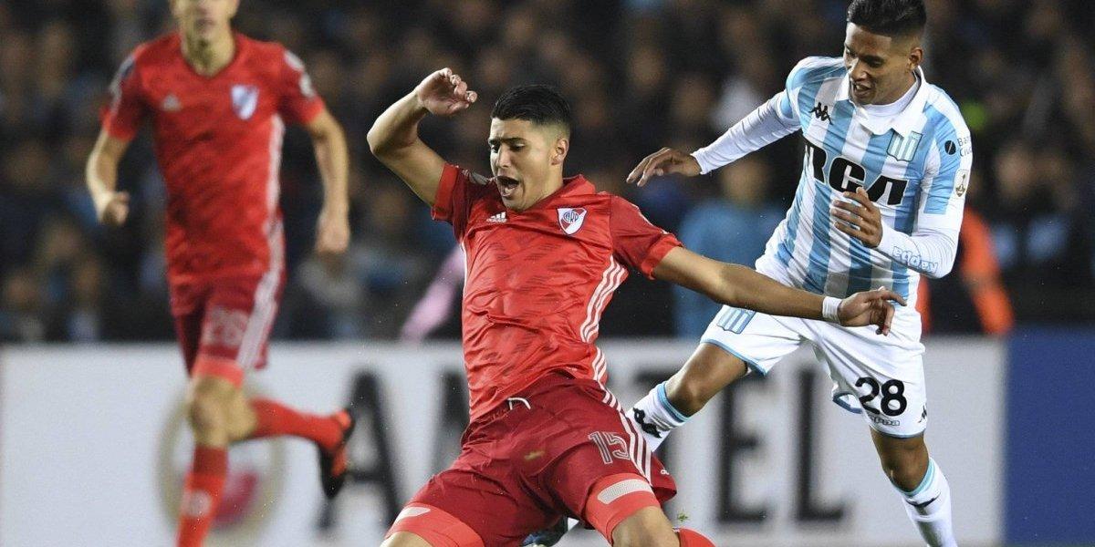Solo Gabriel Arias vio acción en el empate a cero entre Racing y River por la Libertadores