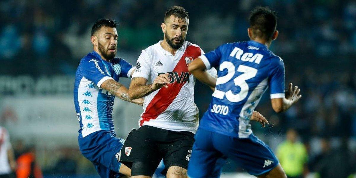 Así vivimos el empate entre el Racing de los chilenos y River por la Libertadores