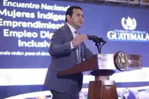 presidente Jimmy Morales en Encuentro Nacional de Mujeres Indígenas