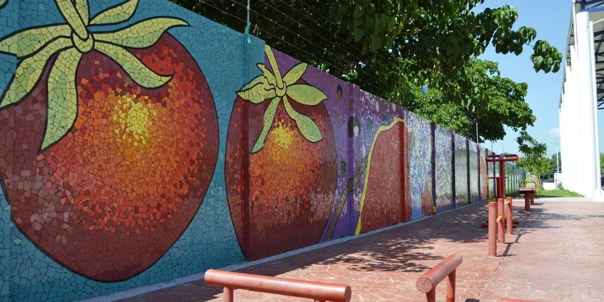Con coloridos murales adornan calles de municipios del Atlántico