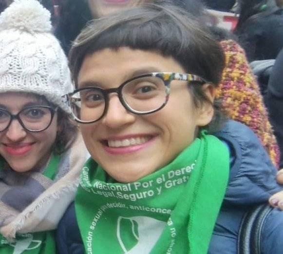 Natalia Saralegui, miembro de Women's March Buenos Aires