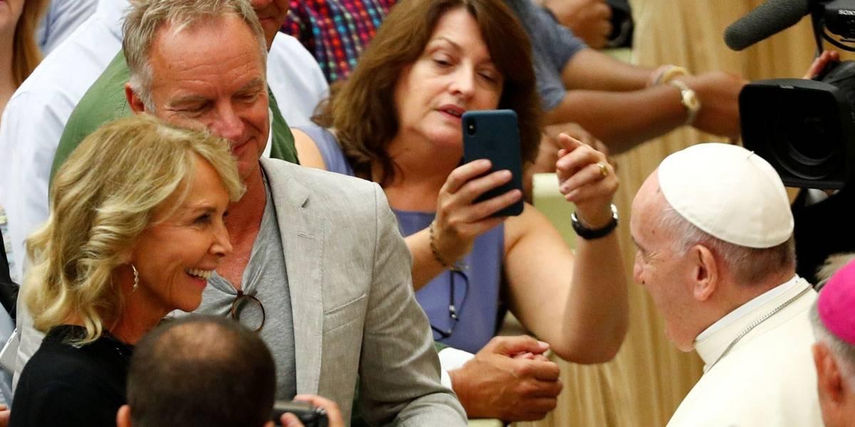 Sting elogia o papa após encontro: Uma verdadeira estrela do rock