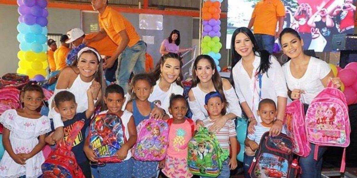 """Presentadoras de """"Extremo a Extremo"""" en jornada solidaria por la educación"""