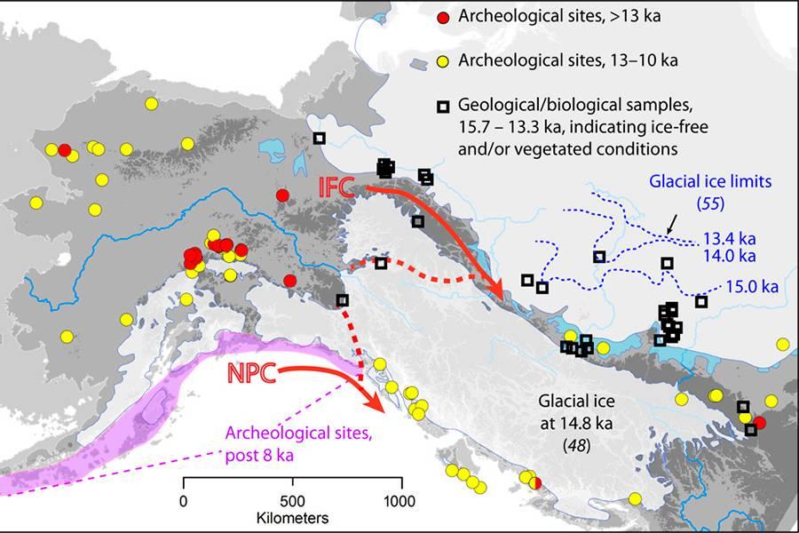 Estudio confirma las dos principales rutas que tomaron los primeros pobladores de América
