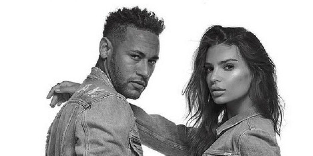 Neymar 'traiciona' a su novia con Emily Ratajkowski