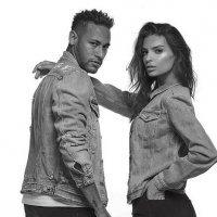 Neymar y Emily Ratajkowski