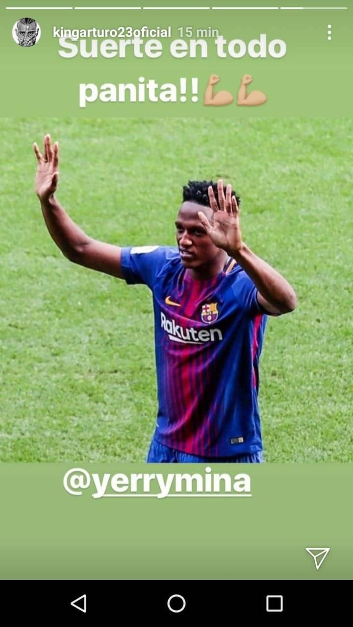 Los buenos deseos de Vidal para su panita / imagen: Instagram Arturo Vidal