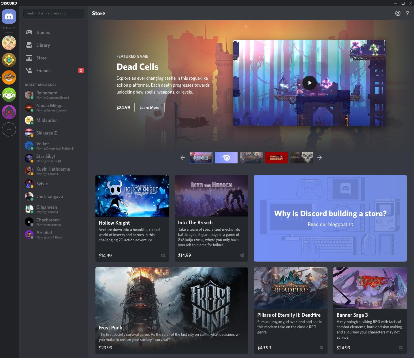 Discord abrirá una tienda digital para empezar a vender videojuegos