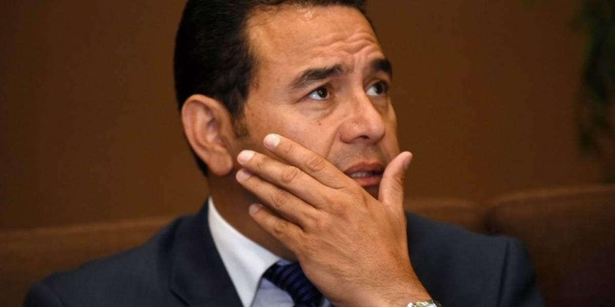 Antejuicio contra presidente Jimmy Morales se deriva de una nueva denuncia