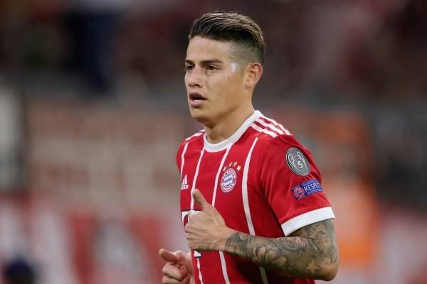 James Rodríguez no entrenó con el Bayern Múnich