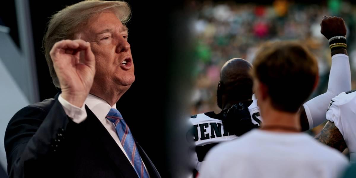 Trump pide no pagar a jugadores de la NFL que protesten en el himno