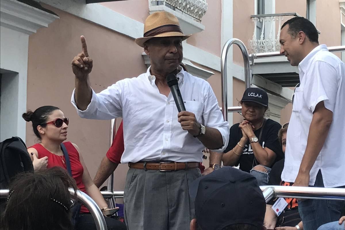 El congresista puertorriqueño, Luis Gutierrez, también participó de la manifestación. / Foto: David Cordero Mercado