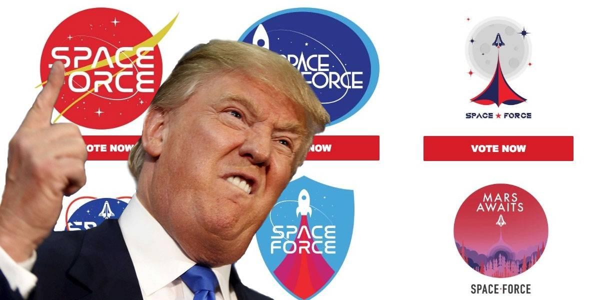 Presidencia de Trump anuncia su Fuerza Espacial y quieren que votes por su logo