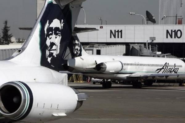Foto de archivo del avión de Alaska Airlines