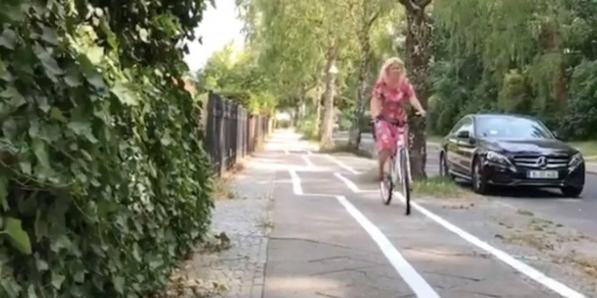 ¿Error? Ciclovía en zig zag en Berlín desata las burlas en internet