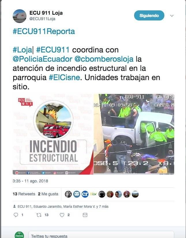 Twiter Policia Nacional