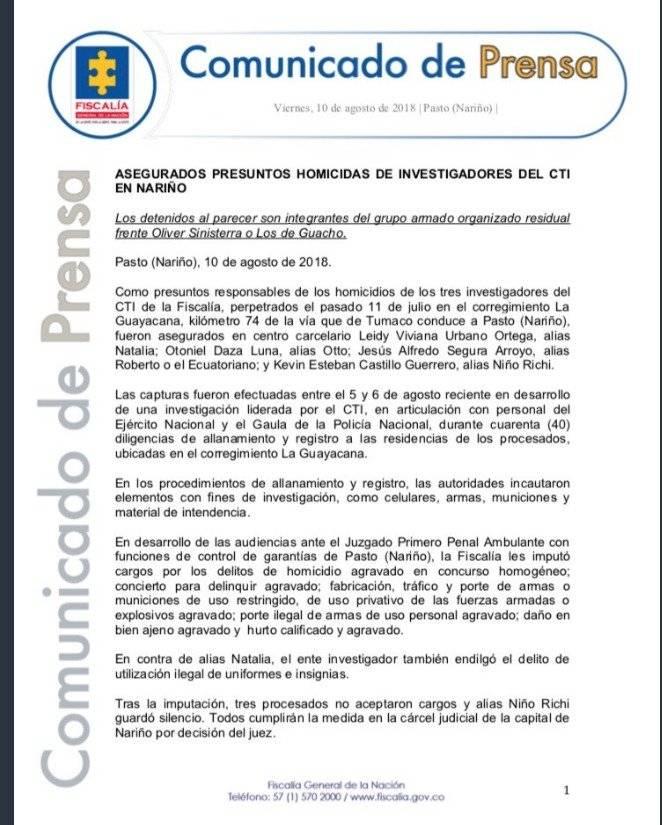Fiscalía Colombia  Cuenta verificada @FiscaliaCol