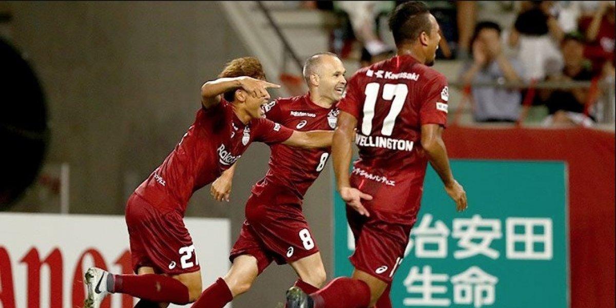 Los dejó tirados: Andrés Iniesta hizo una obra de arte para marcar su primer gol en Japón