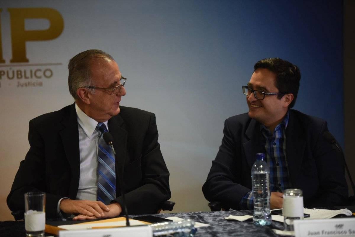 Iván Velásquez, jefe de la CICIG, y Juan Francisco Sandoval, jefe de la Fiscalía Especial contra la Impunidad. Foto: Omar Solís