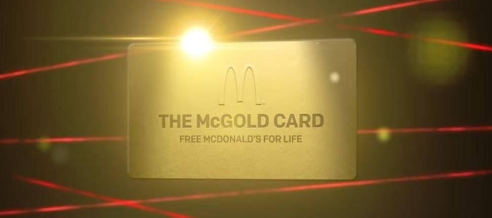 ¡McNífico! McDonalds sorteará una tarjeta dorada para poder comer gratis de por vida en sus restaurantes