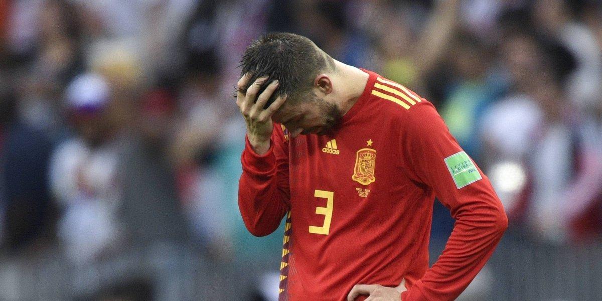 Piqué reitera que no jugará más con la selección española