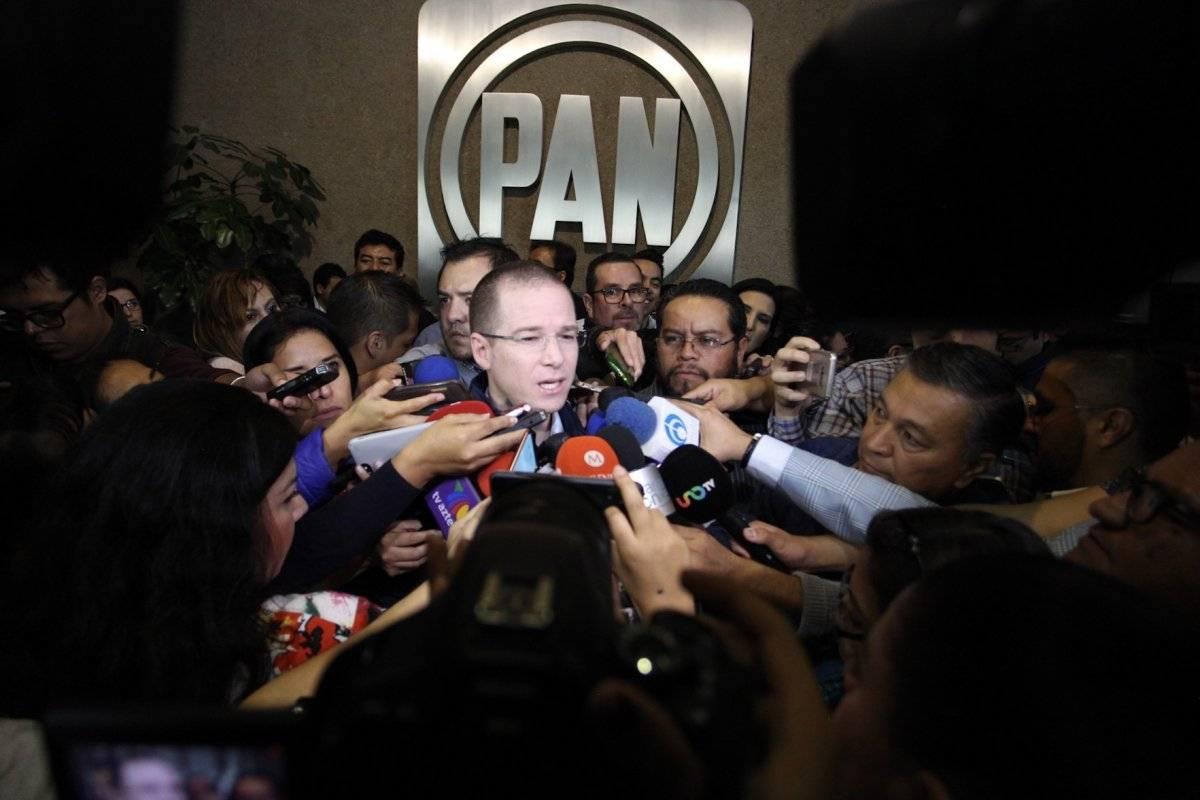 Ricardo Anaya a su llegada al Consejo Nacional del PAN