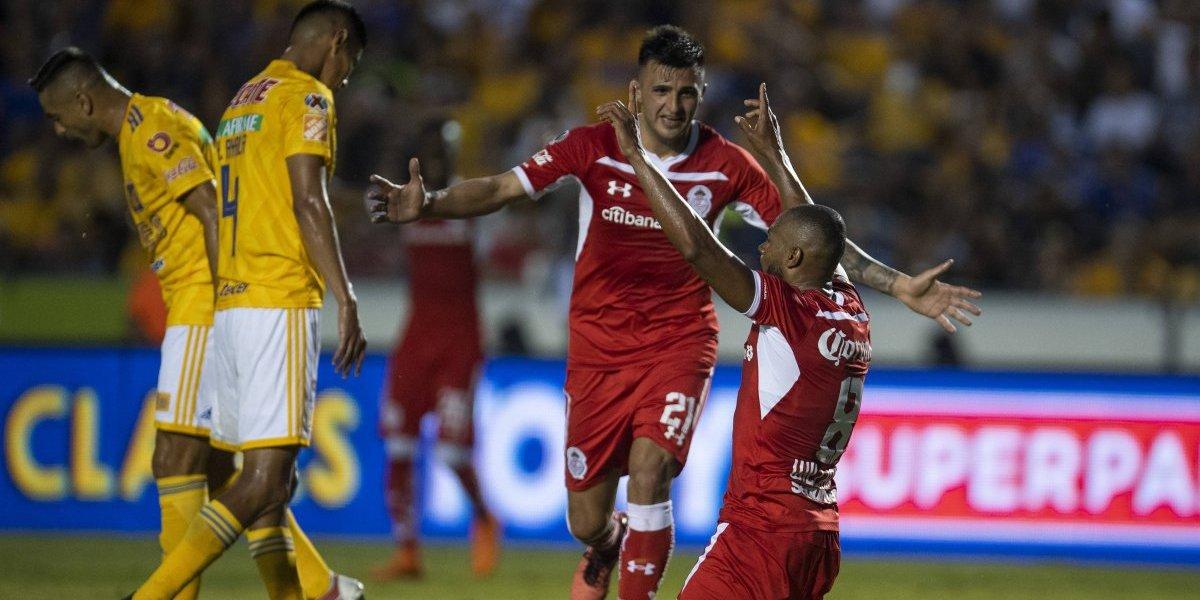 Tigres sufre primera derrota en casa al caer ante Toluca