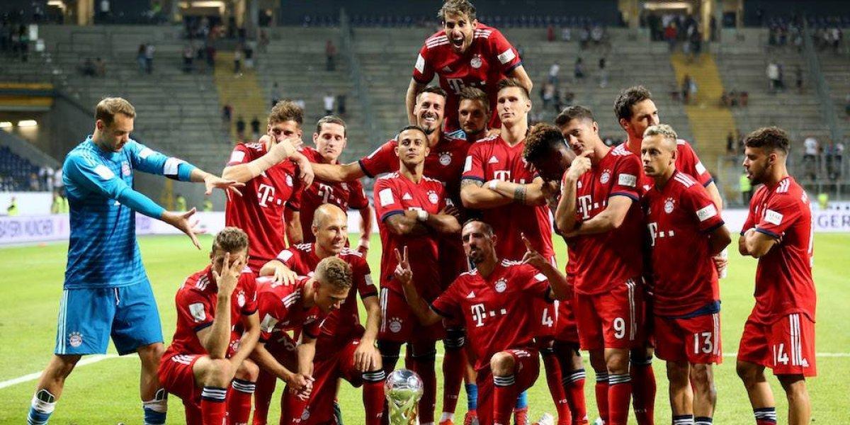 Bayern Munich golea al Frankfurt para ganar la Supercopa alemana