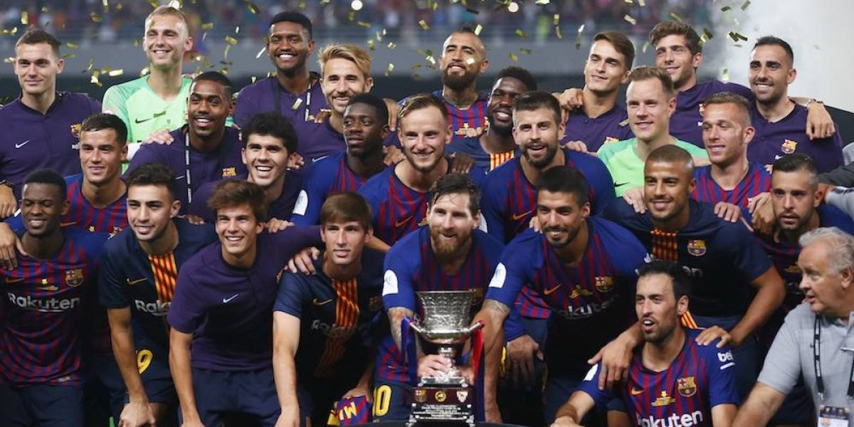 Barcelona campeón de la Supercopa de España, su primer título de la temporada